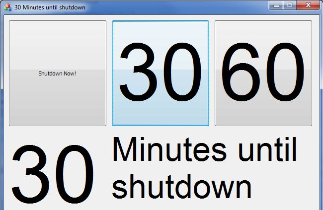 pc shutdown timer screenshot